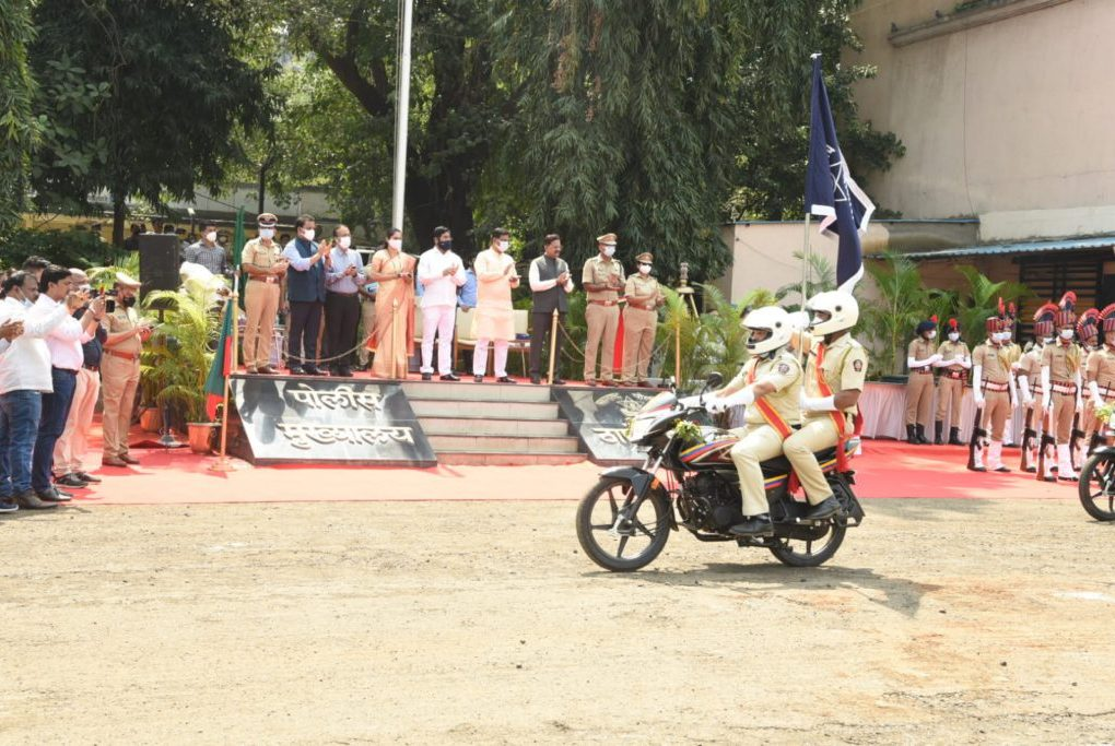 Four-wheeler and two-wheeler convoy filed in Thane district police force